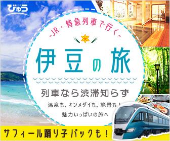 列車で行く伊豆旅行 びゅう