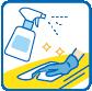 館内や客室内の清掃のアイコン